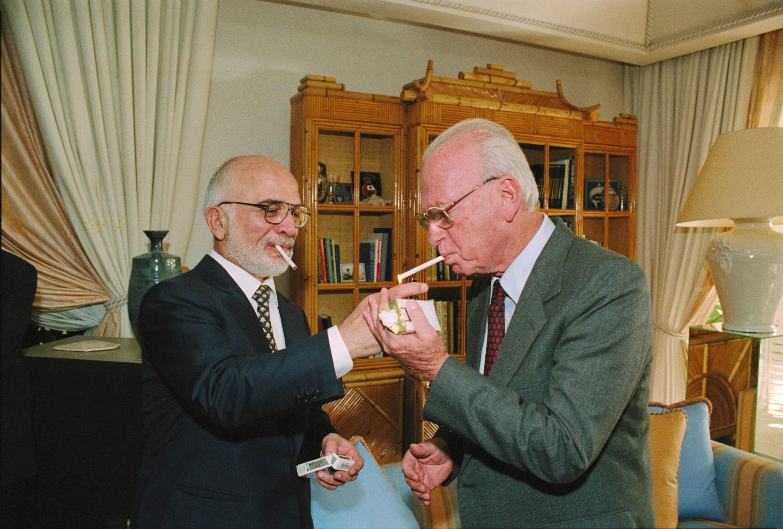 Hussein de Jordania e Isaac Rabin