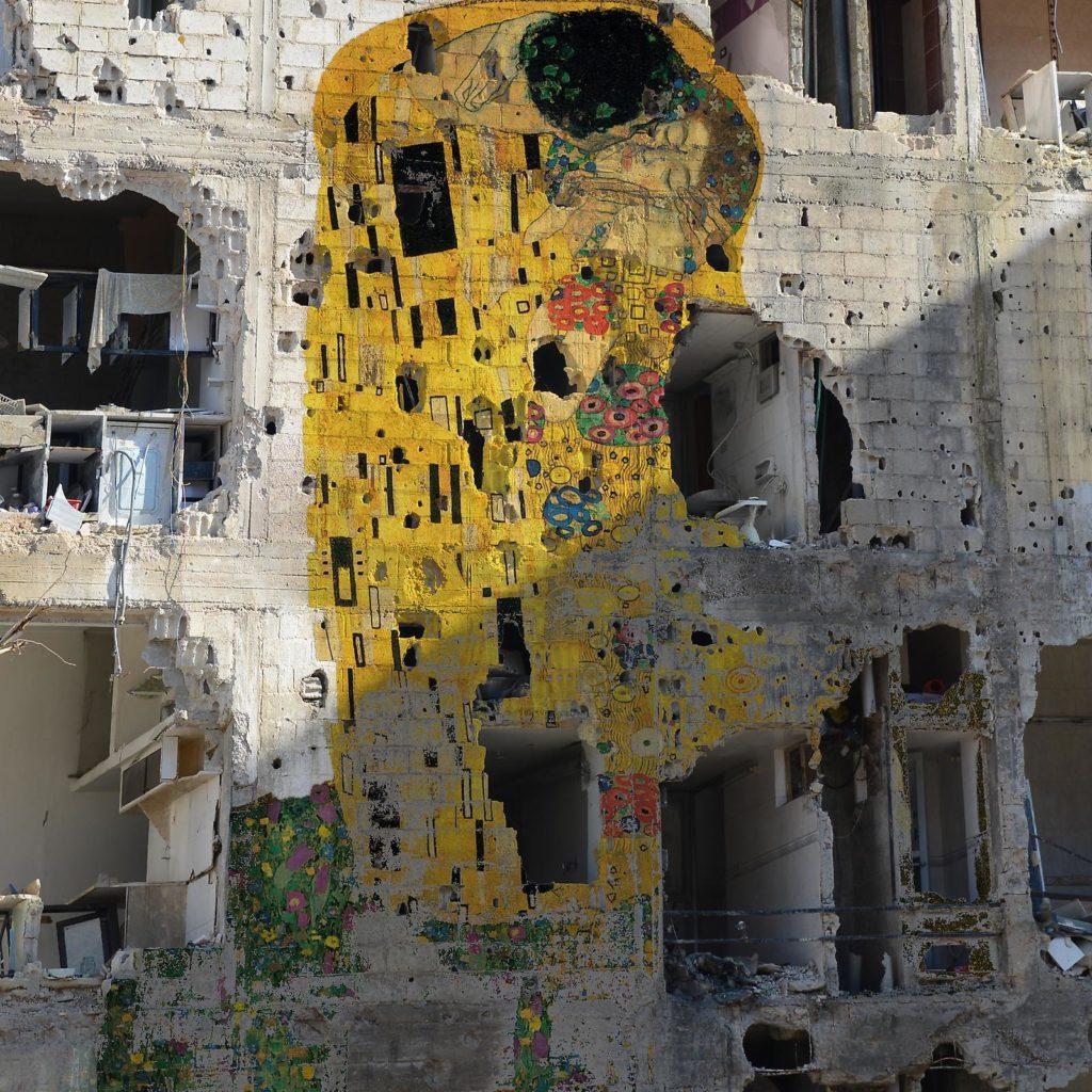 Tammam Azzam, Freedom Graffiti (2012). Imagen: Ayyam Gallery