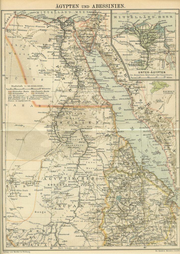 Egipto, Sudán y Abisinia, 1902