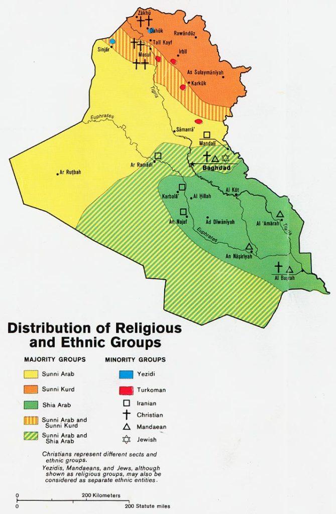 Grupos étnicos y religiosos en Irak