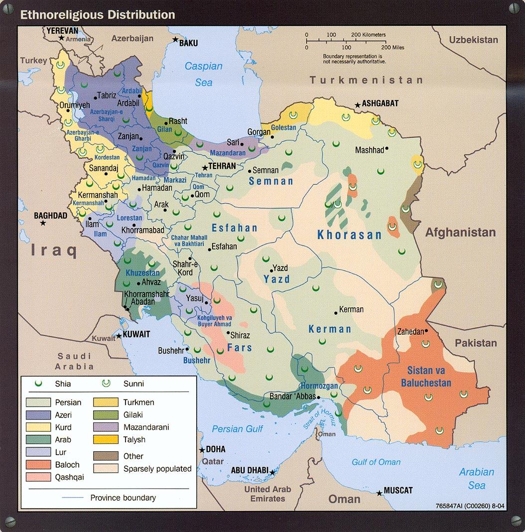 Grupos étnicos y religiosos en Irán