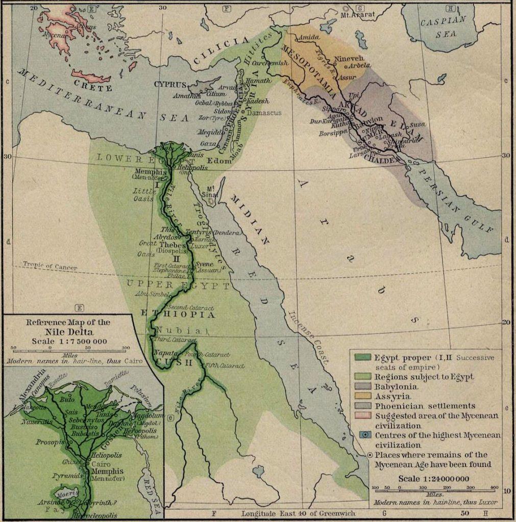 Mediterráneo oriental, 1450 a.C.