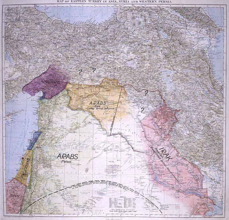 Propuesta de T. E. Lawrence para Oriente Medio