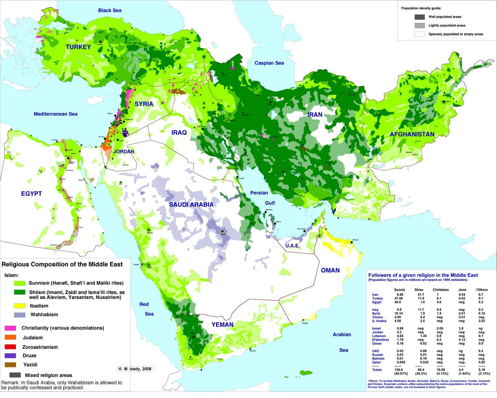 Religiones en Oriente Medio