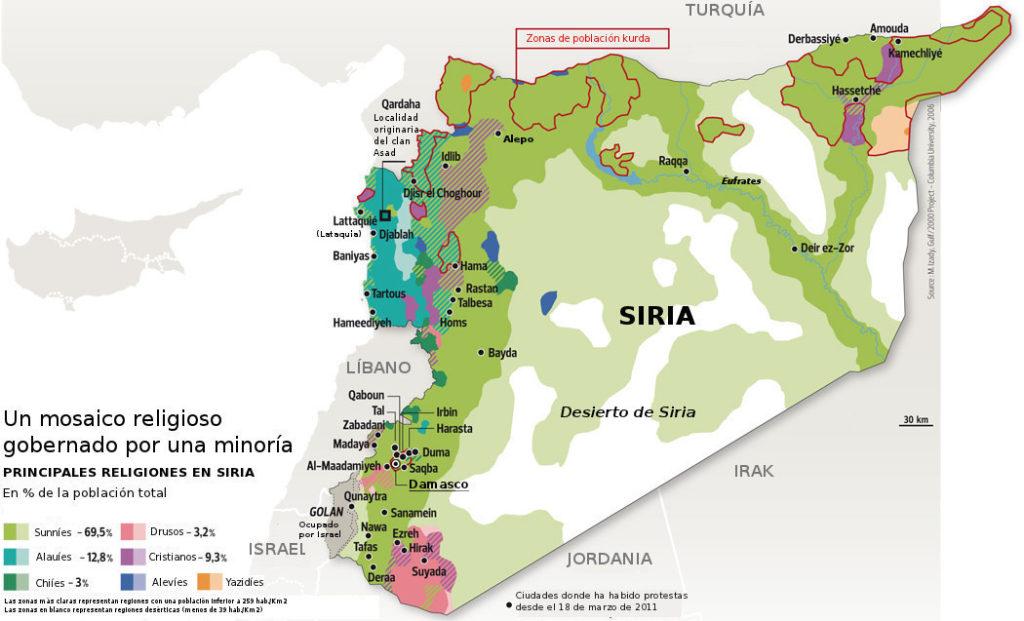 Religiones en Siria