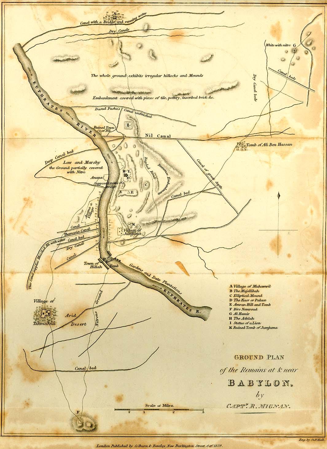 Ruinas de Babilonia, 1829