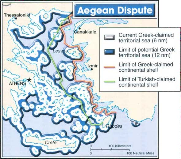 Territorios en disputa entre Turquía y Grecia