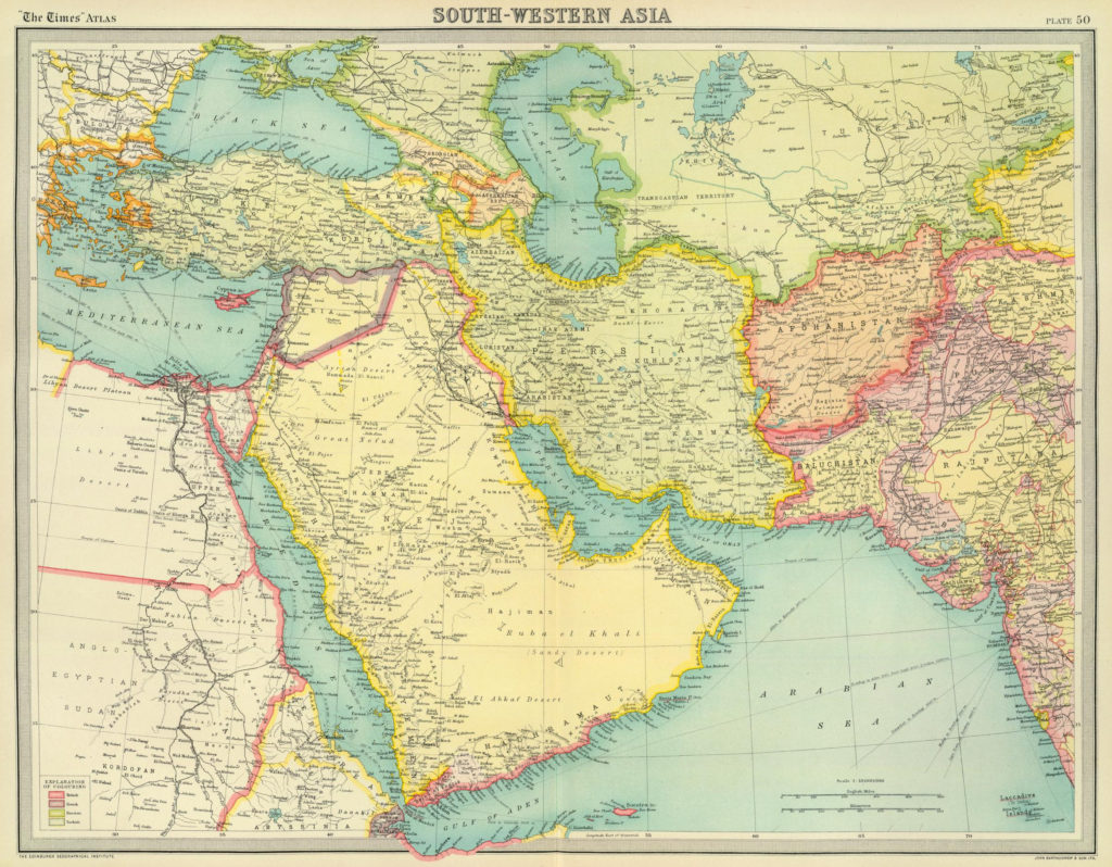 Suroeste de Asia, 1922